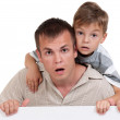 Happy dad and son — Stock Photo #7536144