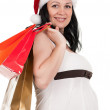 Pregnant woman with shopping bags — Foto de Stock