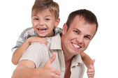 Happy dad and son — Stock Photo