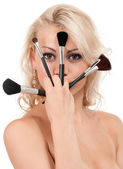Make-up girl — Stock Photo
