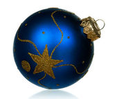 Blue baubles — Stock Photo