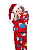 Little girl in pajamas — Stock Photo