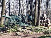 Cannons in Skobelev Park, Pleven, Bulgaria — Stock Photo