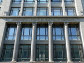 Facade finance ministry of Russian Federation in Moscow — Stock Photo