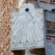 Old sundial in the wall of Mosque. Plovdiv. Bulgaria — Stock fotografie