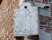 Old sundial in the wall of Mosque. Plovdiv. Bulgaria — Stock Photo