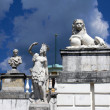 Monuments in old terrace near the palace. Arkhangelskoye Estate. Moscow — Stock Photo #7800536