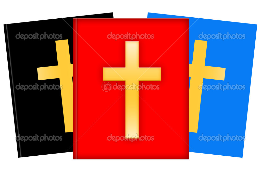 Christian books illustration isolated over white background  Stock Photo #6814274