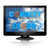 Verbinding maken met wolk — Stockfoto