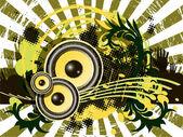 Musical theme — Stock Vector