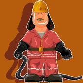 Brandweerman — Stockvector