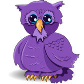 Cartoon owl — Stock Vector
