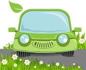 Zelené auto — Stock vektor