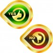 Yes and No icon. Vector beautiful icon set. — Stock Vector