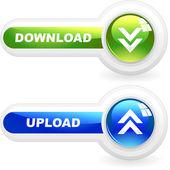 Download button set. Vector set for web — Stock Vector