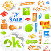 Set of design elements for sale. — Stock Vector