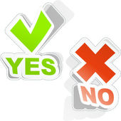 Yes and No button. Vector illustration. — Stock Vector