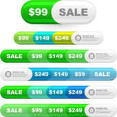 Vector great collection of sale elements. — Vector de stock