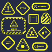 Warning signs. Vector collection. — Stock vektor