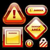 Znaki ostrzegawcze. wektor zbiory — Wektor stockowy