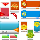 Vector great collection of sale elements. — Stock Vector