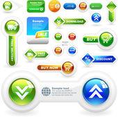 Vektor stor samling av försäljning element. — Stockvektor