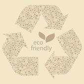 Eco friendly, naturliga och ekologiska etiketter. — Stockvektor