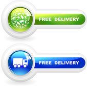 Satılık ücretsiz teslim öğeleri. büyük toplama. — Stok Vektör