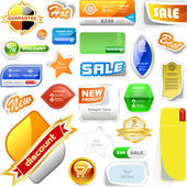 Vector great collection of sale elements — Stock Vector