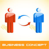 Business concept. Vector illustration. — Stock Vector