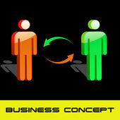 Conceito de negócio. ilustração vetorial. — Vetor de Stock