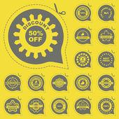 Vector gran colección de elementos de venta. — Vector de stock