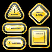 Warning signs. Vector collection. — Stock Vector