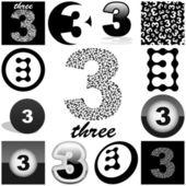 Patroon met getallen — Stockvector