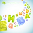 Seamless background with letter signs. Vector set. — Stock Vector