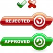 Approved and rejected icons. - Stock Vector