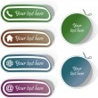 Stock Vector: Vector collection of web buttons.