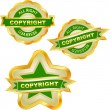 Vector copyright label for sale. — 图库矢量图片