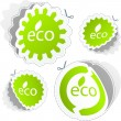 Set of eco friendly stickers.  — Stock Vector