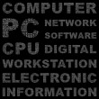 Royalty-Free Stock Vector Image: COMPUTER. Word collage on black background.