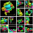 Abstract background with colorful boxes - Imagens vectoriais em stock