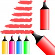 Stock Vector: Highlighter pens.
