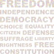 Royalty-Free Stock Vector Image: Freedom. Word collage on white background.