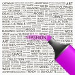 FASHION. Highlighter over background with different association terms. - Stockvectorbeeld