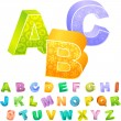 Stock Vector: 3d alphabet. Vector collection.
