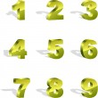 Number icons. Vector set. — Stock Vector #7162903