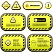 Warning banner set. Vector template.  — Stock Vector