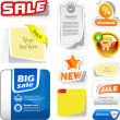 Stock Vector: Various sale design elements