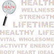 HEALTH. Word collage on white background. Vector illustration. — 图库矢量图片
