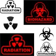 Biohazard and radiation signs. — Stock Vector